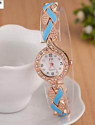 l'alliage de quartz dame, Suisse Suivre acier ceinture de mode de la montre