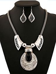 Alloy Gold Plated  With Cubic Zirconia Jewelry Sets (Including Necklace,Earrings)
