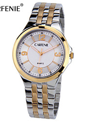CARFENIE ®  Vogue Fashion Gold Men Wrist Watches ,Stainless Steel  Watches for Men 3ATM Water Resistant