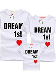 summer clothing family matching outfits O-neck cotton short sleeve Tshirt