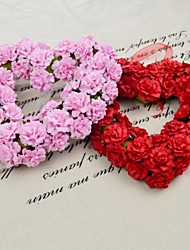 22CM Romantic Red Pink Heart Wreath