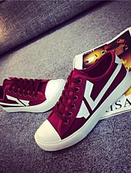 Scarpe Donna - Sneakers alla moda - Ufficio e lavoro / Casual - Creepers / Punta arrotondata - Piatto - Di corda - Borgogna