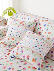 cozzylife haute qualité oreiller d'impression de tissu épais couvre sept pensée Pack 2 43cm * 43cm