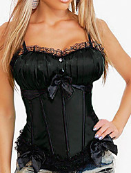 Sexy Ladies Overbust Corset Top Tummy Cincher Lace up Back Waist Shaper Bustier