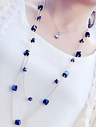 New Arrival Fashional High Quality Geometric Crystal Long Necklace