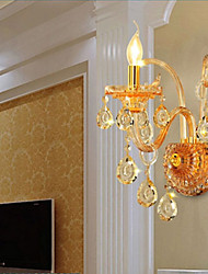 Crystal Wall Sconces , Traditional/Classic E12/E14 Glass