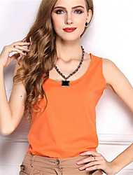 Ladies Sleeveless Vest Candy-Colored Chiffon Shirt Chiffon Summer Suspenders Blouses Top Casual Loose Vest Shirts Trendy