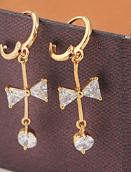 KuNiu Women's 18K Gold Plated Austrian Zircon Crystal Rhinestone Shining Drop Earrings ER0237