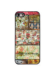 Personalized Gift Retro Flower Design Aluminum Hard Case for iPhone 4/4S