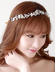 Exquisite Alloy Rhinestones Wedding/Party Bridal Headpieces with Imitation Pearls