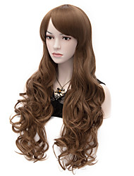 Fashion Natural Wave Lady Wigs Hair Brown Synthetic Hair Wigs