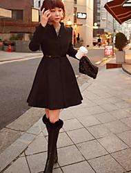 Women's Slim Wool Woolen Coat