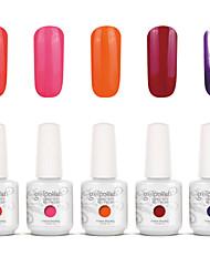 nail art gelpolish mergulhar off uv gel unha kit manicure gel cor polonês 5 cores definir S129