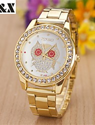 Women's Fashion Lovely Red Eyes Owl Diamond Quartz Steel Belt Wrist Watch(Assorted Colors) Cool Watches Unique Watches