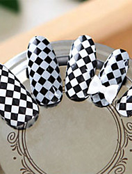 Black White checkered Nail Art Stickers
