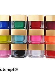 12pcs décoration art couleur mélangée gel de couleur pure couleur uv gel UV de constructeur polonais ensemble de l'ongle (8 ml)