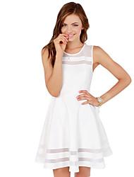 Women's American Apparel Elegant Mesh Patchwork Sexy Slim Fit Dress