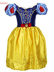 Girl's All Seasons Micro-elastic Medium Short Sleeve Snow White Princess Dresses (Cotton Blends/Organza/Polyester)