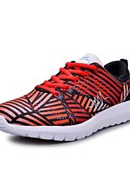 Sapatos Tênis Feminino Preto / Vermelho / Cinza Tule