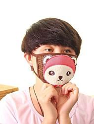 사랑스러운 양털 방진 겨울 열 성인 마스크 얼굴 마스크 의료 거즈 마스크 (랜덤 색상)