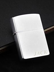 Regalos personalizados - Tienda - Metal - Plata - Fuego Simple - Encendedor de Aceite