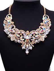 JQ Jewelry Big Name Multi-color Crystal Necklace