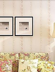 nouvelle rainbow ™ peint floral contemporain mur fleur rose couvrant art mural non-tissé de tissu
