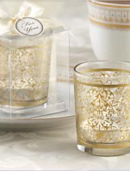 matrimonio regalo di arredamento candela dorata tazza (set di 2)