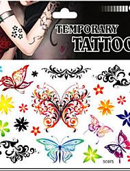 bm mariposa sexy tatuaje temporal para el hombre mujer