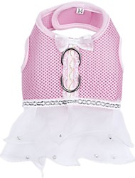 Lovely Pink Pet Dog Harness Dress