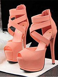 Women's Shoes Leatherette Stiletto Heel Heels Sandals Casual Multi-color