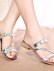 Women's Shoes Gold/Silver Chunky Heel Sandals (PU)