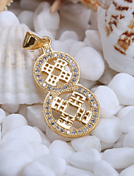 Alloy Jewelry Simple Generous 8 Digital Gift Box Chain Pendant Necklace