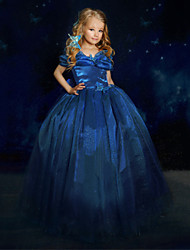 Girl's Bow Organza Ball Gown Cinderella Princess Dress