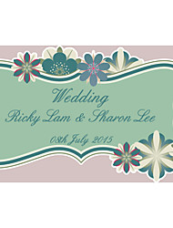 Personalized Wedding Product Labels Flower Pattern Cut Pattern Design (Set of 48pcs)