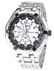 reloj de pulsera de cuarzo de banda de acero de diseño de moda de los hombres