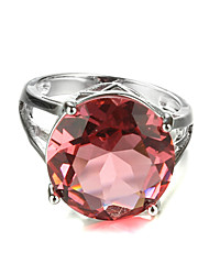 Statement Rings Zircon Cubic Zirconia Platinum Plated Fashion Red Light Brown Jewelry Wedding Party 1pc