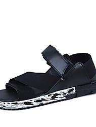 Zapatos de Hombre Casual Cuero Sintético Sandalias Negro