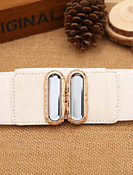Women Crystal Glass Mosaic Belt Party/Casual Leather Faux Leather Wide Belt