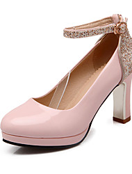 Women's Heels Spring Summer Fall Winter Platform Glitter PU Office & Career Dress Party & Evening Chunky Heel Block HeelSparkling Glitter