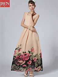 Muairen®Women'S Retro Holiday Chaise Slim Dress