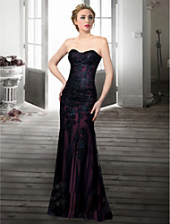Homecoming Formal Evening Dress Trumpet/Mermaid Sweetheart Floor-length Lace Dress