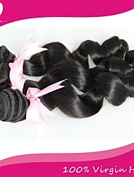 "3Pcs/Lot Brazilian Virgin Hair 100% Brazilian Remy Hair Loose Wave 8""-30""Human Hair Extensions Natural Color"