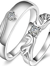Alliances Mariage / Soirée / Quotidien / Décontracté Bijoux Alliage / Strass Femme / Hommes / Couple Couple de Bagues / Bagues Affirmées