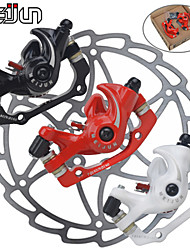 MEIJUN Line Pulling Front and Rear Disc Brakes Mountain Bike White Red Black Disc Brake with 160MM Discs Bicycle Brake