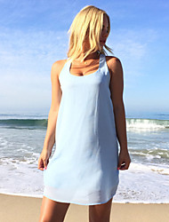 Summer style 2015 hot sale New Women Sexy Casual Dresses Sleeveless O-Neck Mini Party Beach Dress Female