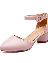 Women's Shoes Patent Leather Low Heel Heels /Pointed Toe / Closed Toe Heels Office & Career / Casual Blue / Pink / White