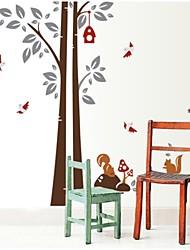 под дерево белки большой фоне стены стикеры