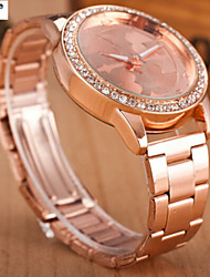 Lady'S Quartz Alloy, Switzerland Watch Steel Band Watch Fashion Rose Cool Watches Unique Watches