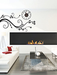 Modern Style DIY Romantic Branches Mute Wall Clock